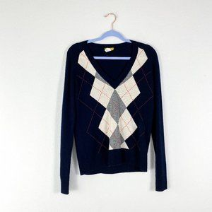 J. Crew Buonissima Navy Blue Cashmere Sweater